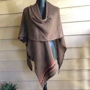ANTHROPOLOGIE WOODEN SHIPS SWEATER PONCHO ONE SIZE